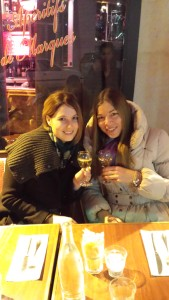 Wine = happy girls!